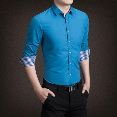 2017 New Spring autumn men casuall shirts mens shirt fashion formal shirt for men 3XL 4XL 5XL high quality N-5