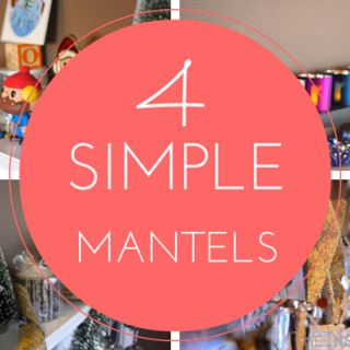 TheInspiredHome.org // 4 Simple DIY Holiday Mantels to inspire your mantel design for this year: Bright & Colourful, Rustic Christmas, Blue & Silver or Classic Christmas.