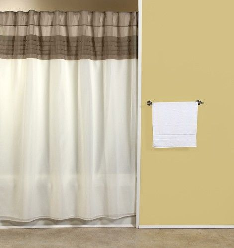 Curtain & Bath Outlet - Absolute Geneva Fabric Shower Curtain with matching tailored valance