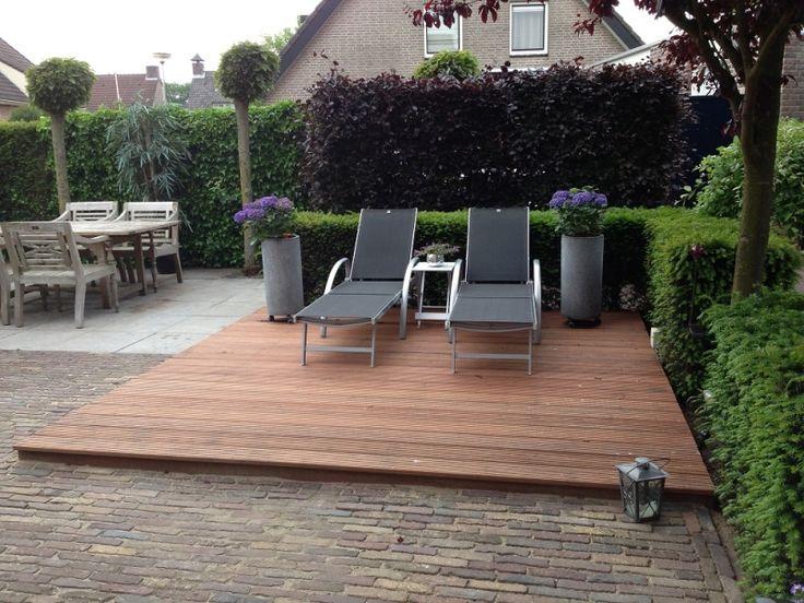 Meer dan 1000 idee n over houten terras op pinterest patio achtertuin patio en achtertuinen - Ideeen terras ...
