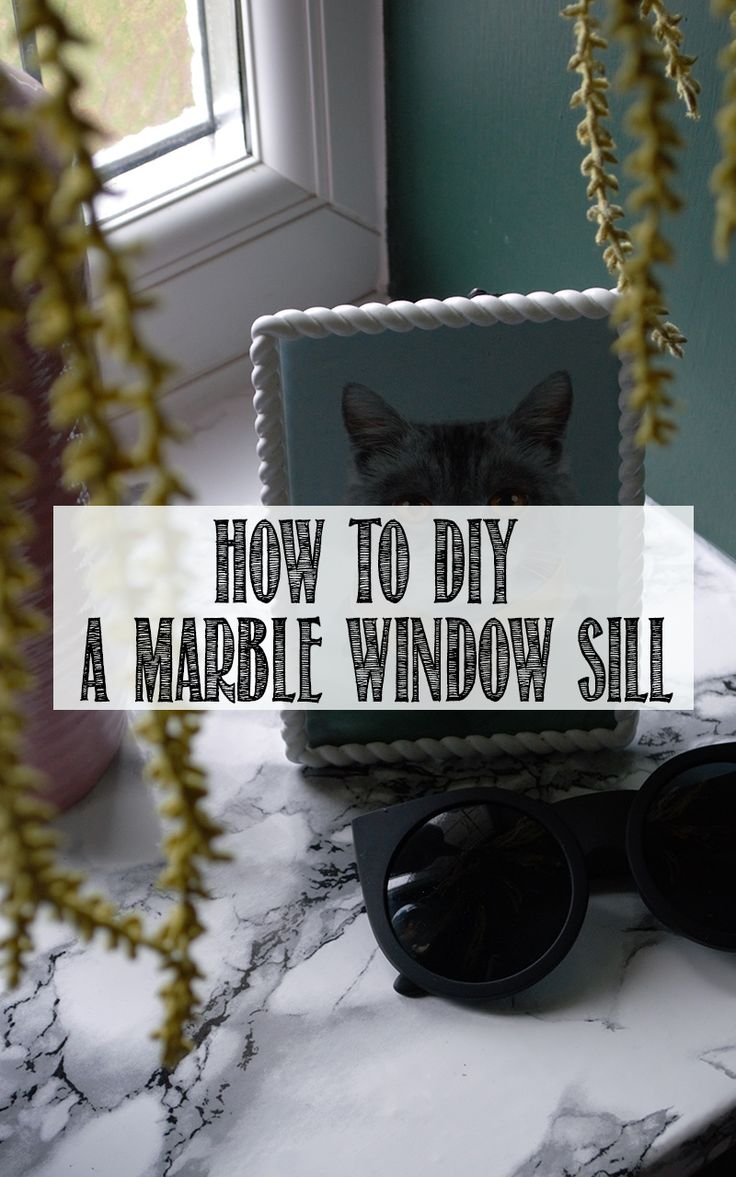 Hot to DIY a marble window sill for under £5