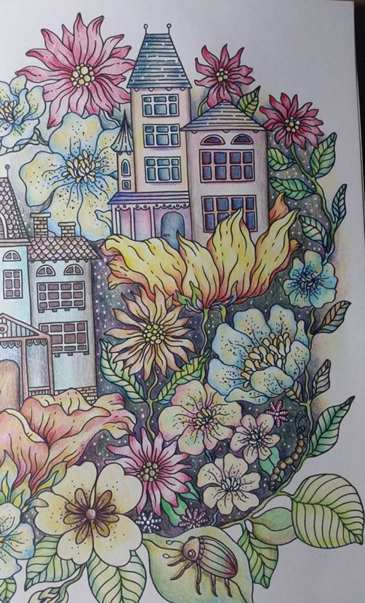 Colored Pencil Tutorial Adult Coloring Books Pencils Hanna Summer Nights Daydream Embroidery Draw