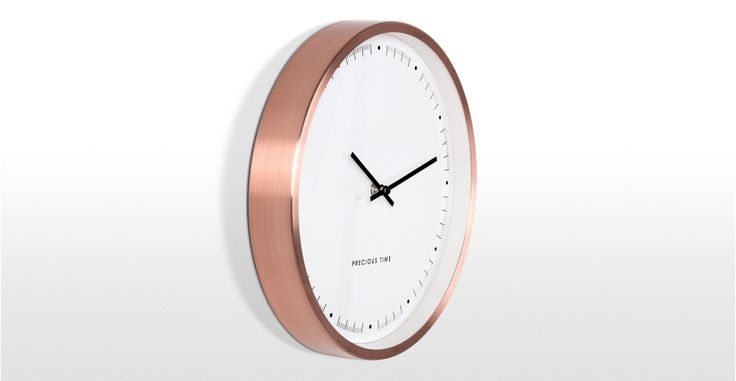 My Copper Obsession continues, this clock is gorgeous even if I do say so myself!! http://www.made.com/homewares-textiles/clocks/aurelia-wall-clock-copper