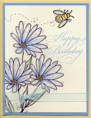 Blooming Birthday using Stampin Up In Full Bloom