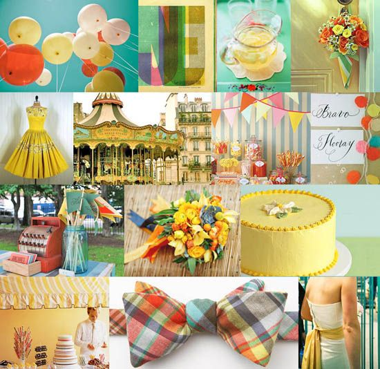 : Vintage Carnivals, First Birthday Parties, Color Schemes, Inspiration Boards, Vintage Circus, Carnivals Theme, Parties Ideas, Circus Parties, Carnivals Wedding
