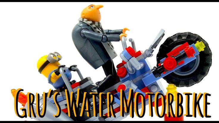 Despicable me 3 - Gru's Water Motorbike. Fun to build and to play with Gru and Minions figure.