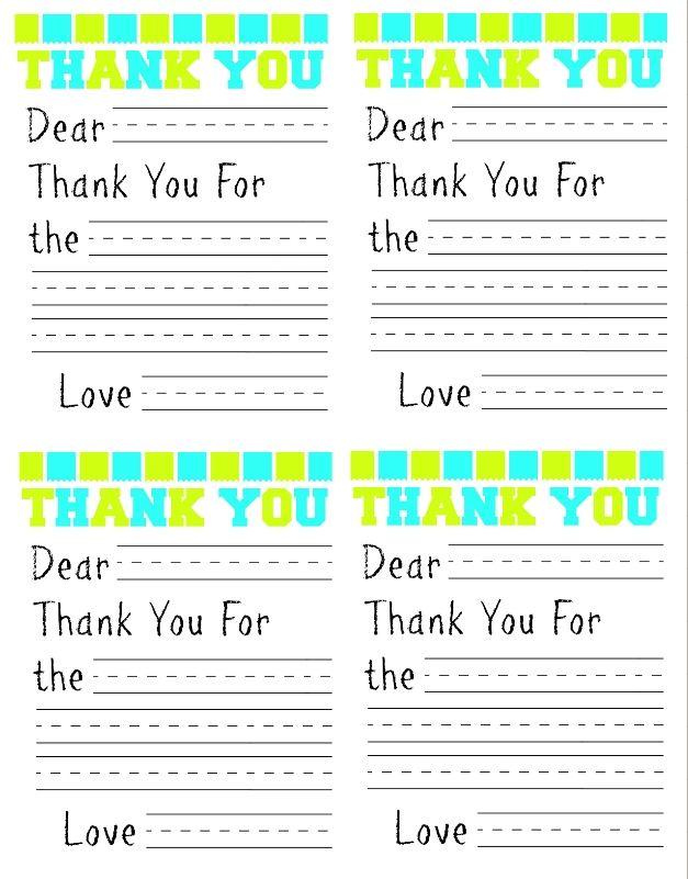 If you are looking for a fun way to help your kids write thank you cards after Christmas here's a simple Free Printable Thank You Card for Kids you can print out and use. All they need to do is fill in the blanks with the persons name, the item, and then sign their name!