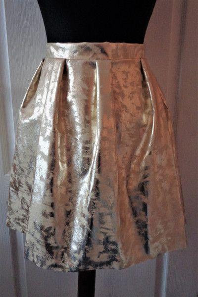 spódnica złota rozkloszowana - gabrielahezner - Spódnice bombki