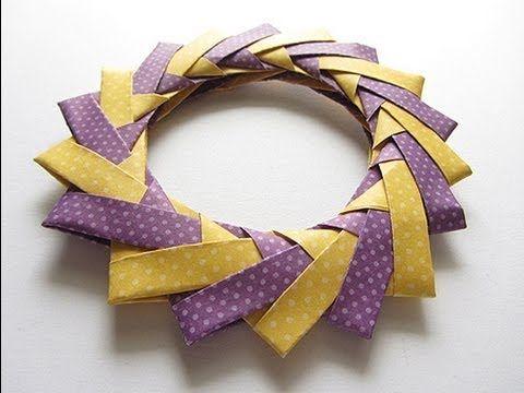 Origami Modular Braided Wreath