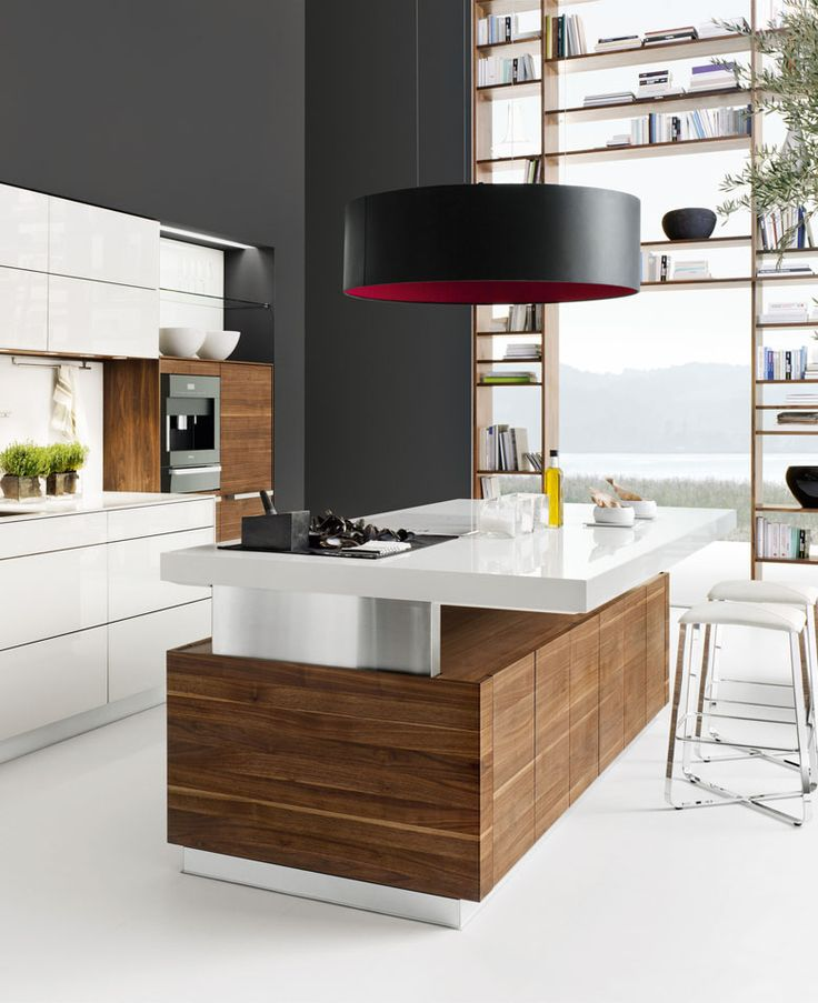 Wooden kitchen with island k7 by team 7 design kai stania team7
