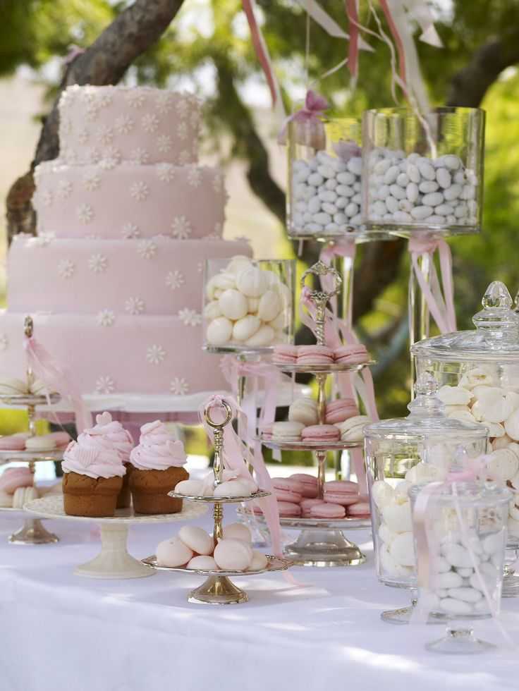 Baby girl christening buffet quite easy to make alone.http://www.instyle.gr/photo-gallery/roz-vaftisi-koritsiou/