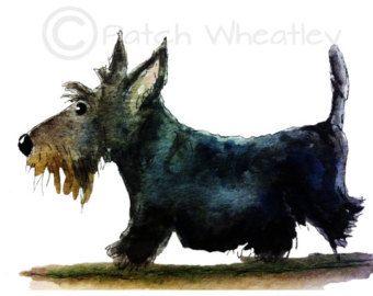 Scottie hond Rock / Pebble kunst Schotse Terriër door ArchyScottie