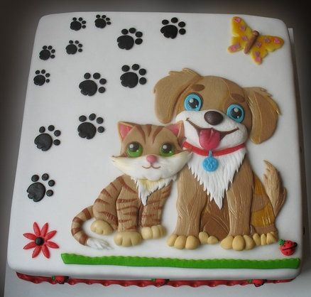 Amazing Kitten and puppy cake, so special, like if u r interested. please like and share it to your timeline & friends: http://pinterest.com/travelfoxcom/pins/