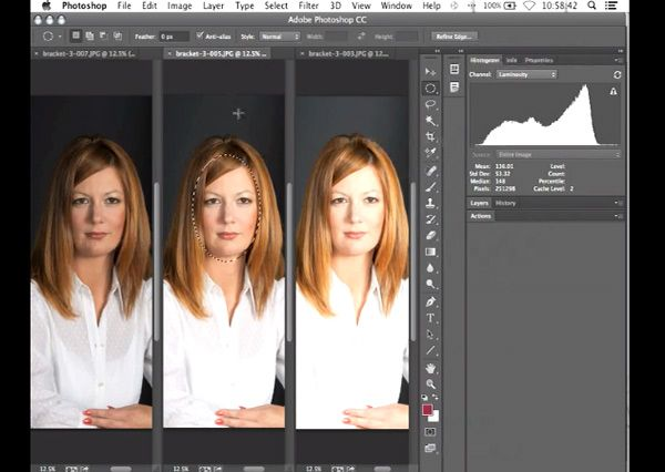 Color calibrating using Photoshop from H & H lab