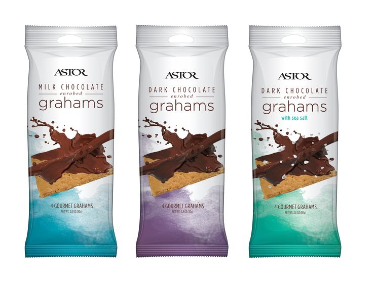astor chocolates gourmet chocolate enrobed grahams are offered in 3 flavors for their astor editions collection - Enrob Color