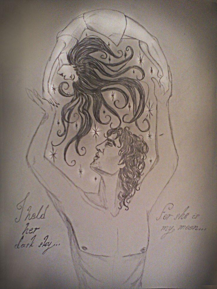 """""""Σε κρατώ ψηλά από τις σκοτεινές σου σκέψεις... Εσύ, Σελήνη, με Άστρα, έλα, να με μουσκέψεις..."""""""