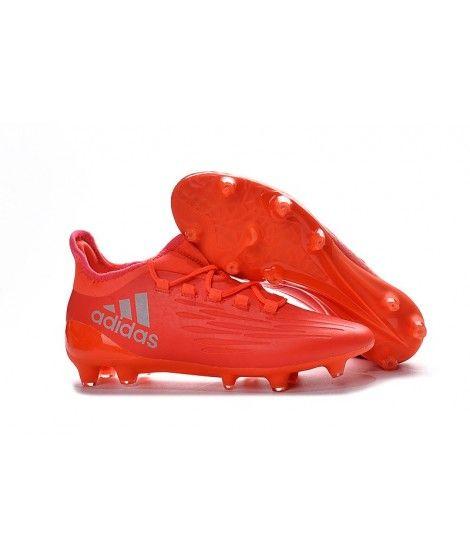 Adidas X 16.3 FG FODBOLDSTØVLE BLØDT UNDERLAG Mænd Fodboldstøvler Rød Sølv