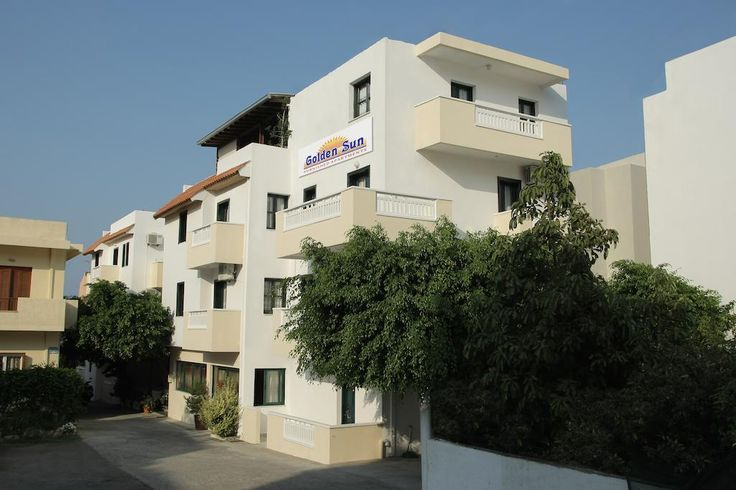 Golden Sun Hotel    Located just 70 metres from the beach, Golden Sun Hotel in Hersonissos offers studios and apartments with balconies and patios. They all enjoy garden, mountain and Aegean Sea views.