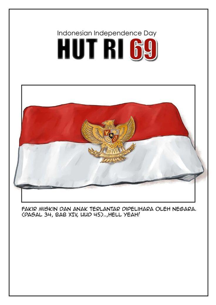 Hari Kemerdekaan Republik Indonesia 69 (Indonesian Independence Day) Garuda Red-White Armband