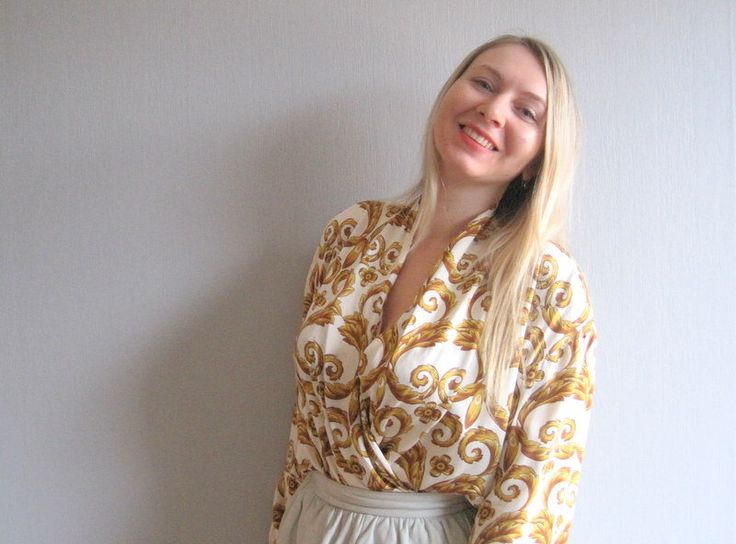 A personal favourite from my Etsy shop https://www.etsy.com/no-en/listing/218968936/bodysuit-blouse-silk-escada-vintage