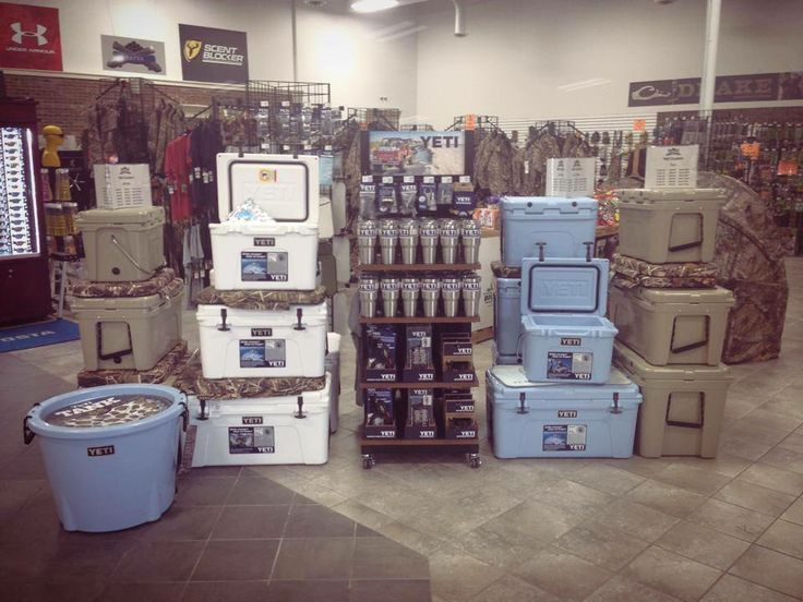 Check Out Our New Yeti Display Lots Of Coolers Ramblers