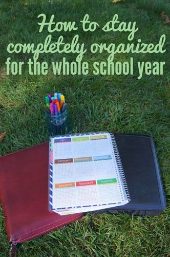 Personal Organization: Getting Organized for the Whole School Year education