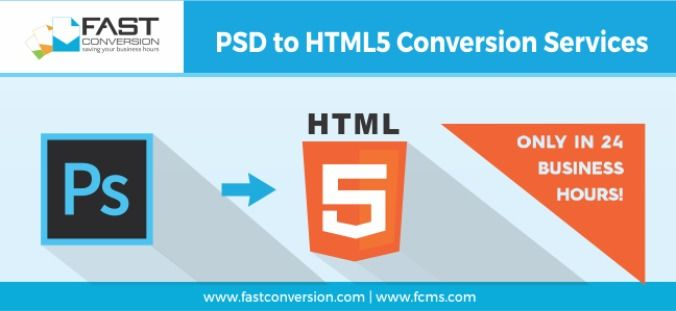 PSD to HTML5 Conversion Services Only in 24 Biz Hours! Is it Possible?  #PSDtoHTML5  #HTML5 #PSD #Services