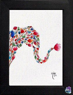 Elephante, cuadro decorativo acuarela. #Art3Mas
