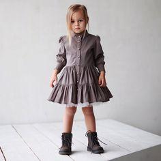 ❗️-30%❗️Платье-пуговки цвета какао.Размер в наличии : 92.Одно единственное😉!Состав: 100% итальянский хлопок,подклад-батист.Старая цена: 6000.Новая:4200.#miko_kids #conceptkidswear #sale