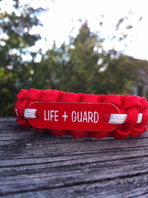 Lifeguard Survival Paracord 550 Bracelet by CJWOODCRAFTS on Etsy, $12.00
