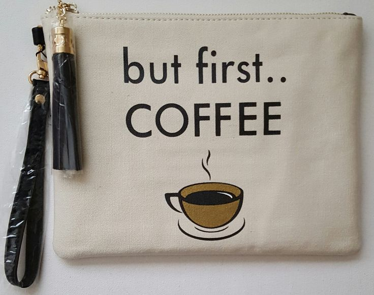I Need My Coffee Clutch