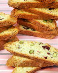Cranberry-Pistachio Cornmeal Biscotti   Recipe