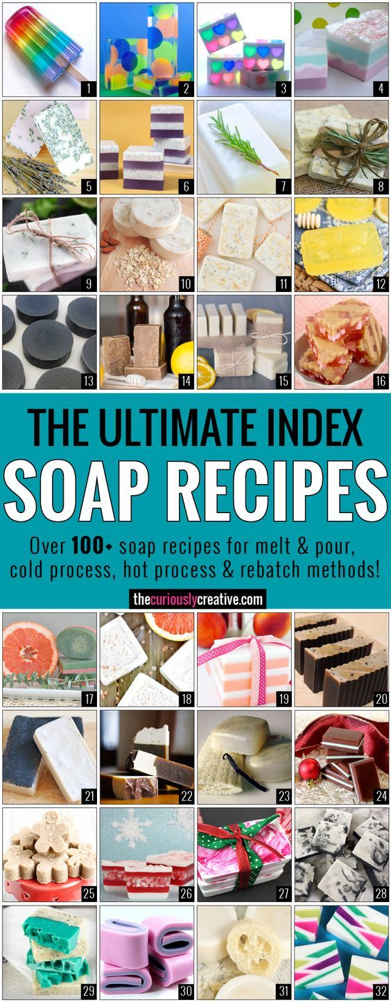 Soap making is a wonderful hobby that gives you the option to be able to control everything you put in it. Here is a list of the best soap making recipes!