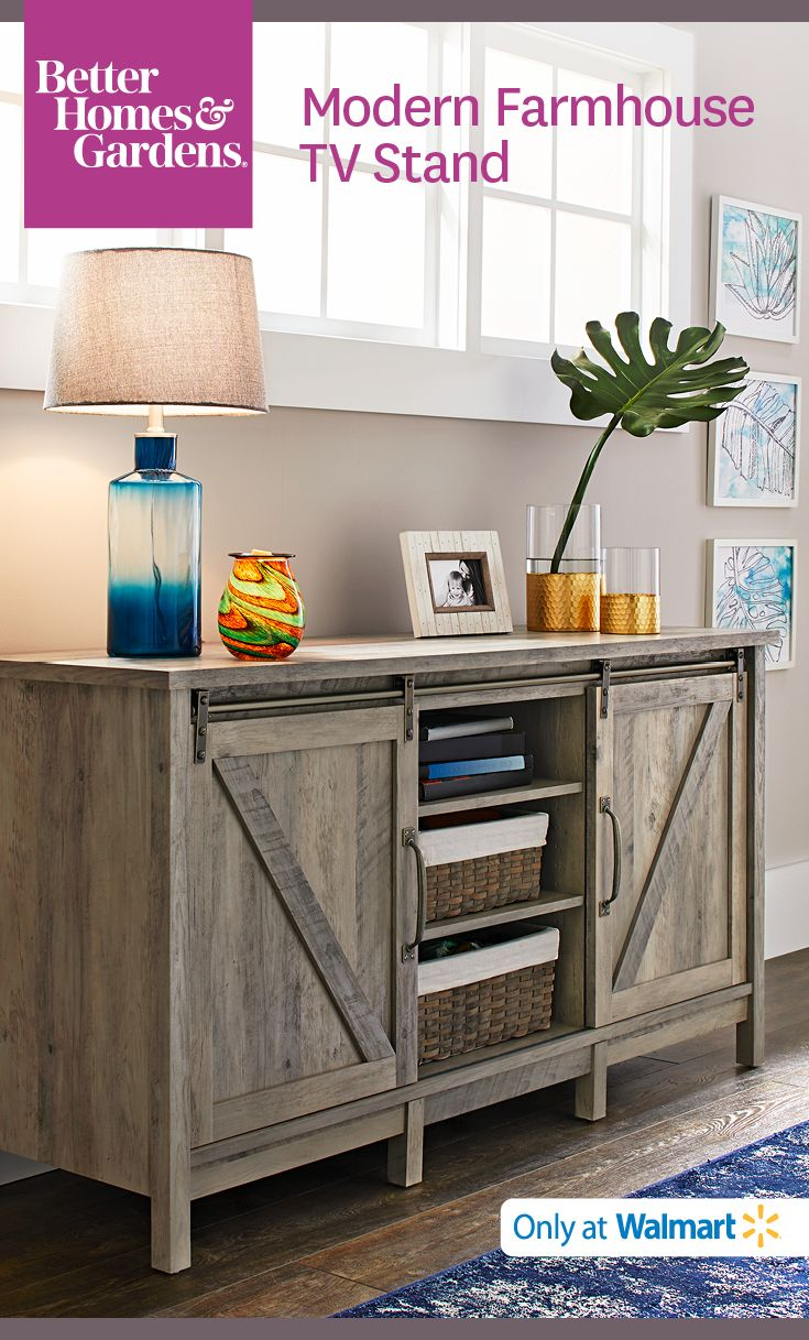 The Modern Farmhouse TV Stand is versatile! Use it as a