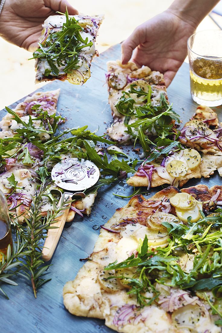 These homemade pizzas can be finished off on the barbecue to give them an exquisite taste. A must have for any BBQ party.