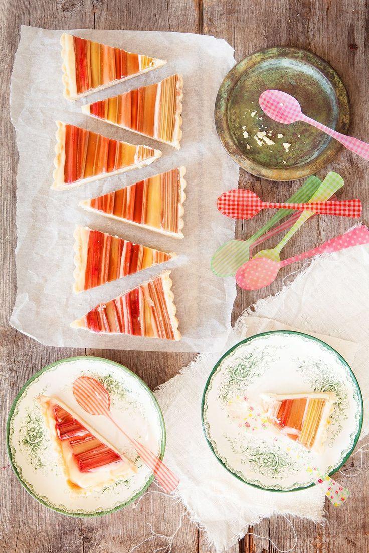 Rabarber- & Vaniljcheesecake med Jordgubbsgelé