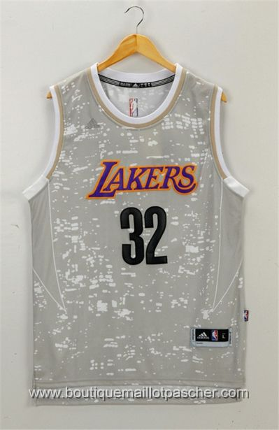 maillot nba pas cher Los Angeles Lakers Johnson #32 Gray daylight edition 22,99€