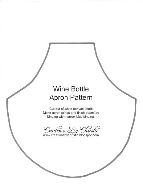 Wine Bottle Apron Pattern - there is still time to make it before Thanksgiving... or as gifts
