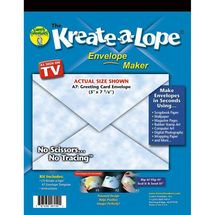Kreate-A-Lope Envelope Template-A7 I want this Pinterest - a7 envelope template