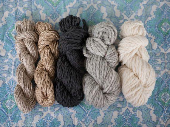 Hand Spun Yarn / Hand Spun Merino / Bamboo / Knitting Yarn /