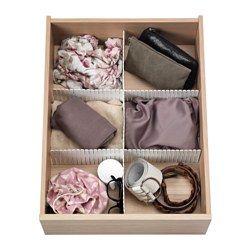IKEA - HÖFTA, Separador para cajón, 74x14 cm, , Si quieres más compartimentos, solo tienes que añadir organizadores.