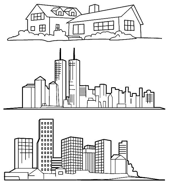 Recursos Para Educacion Infantil Dibujos Para Colorear De Ciudades Dibujos De Construccion Ciudad Para Dibujar Dibujos De Edificios