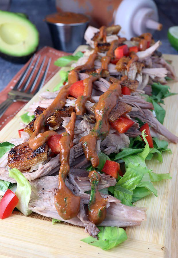 Try your hand at a delicious Thai BBQ Pork Salad! Shared via www.ruled.me/
