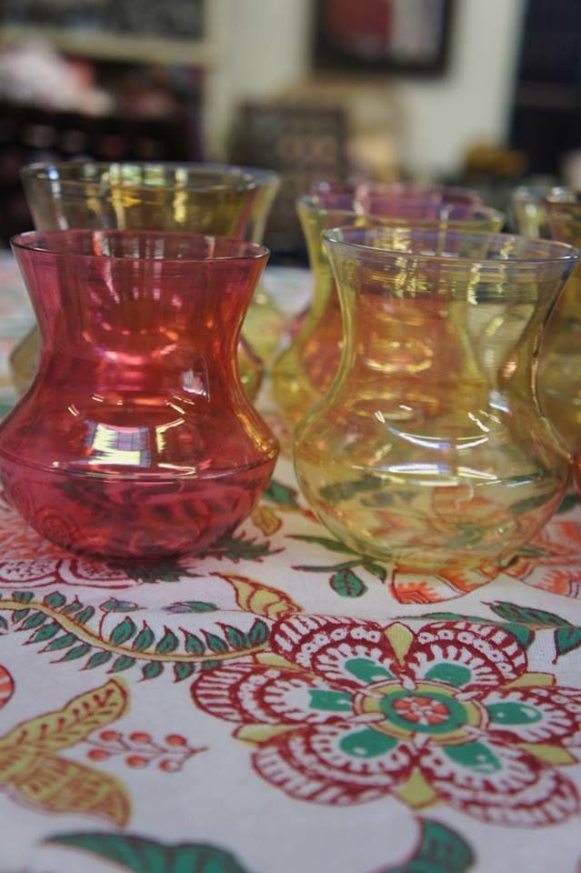 Festive table setting.  Anokhi Printed Tablecloth and Hookka Glasses.