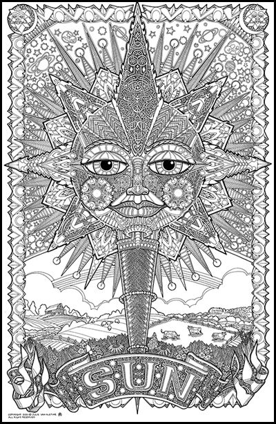psychedelic coloring pages bing images - Psychedelic Coloring Book