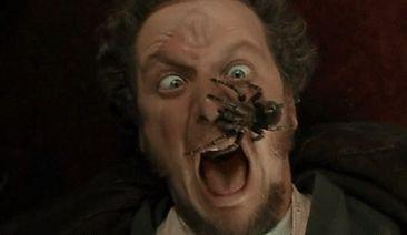 """""""Ricco, dou 1 Milhão de reais pra vc deixar uma tarantula passear no seu rosto por 1 segundo!' → Ricco morre pobre. (Cena: Home Alone)"""