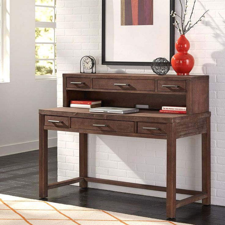 Have to have it. Home Styles Barnside Executive Desk and Hutch - Aged Barnside - $565.98 @hayneedle