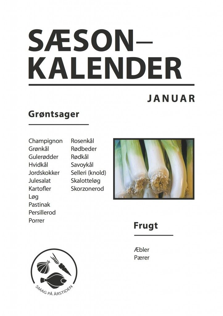 Sæsonkalender Januar| Smag På Årstiden