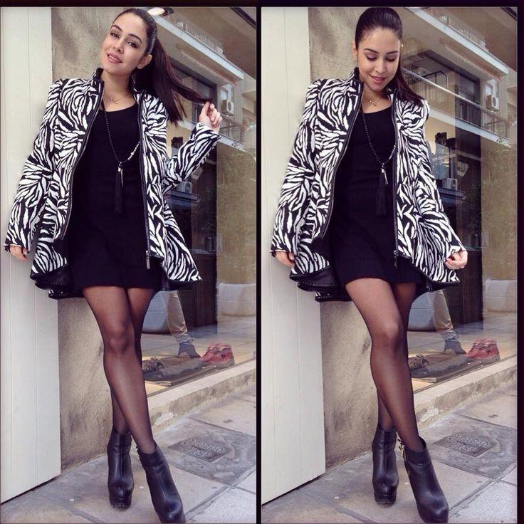 Zebra print Coat