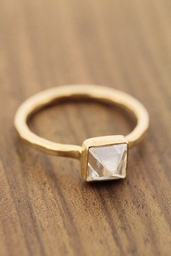 33 Quirky Engagement Rings For Alt Brides #refinery29  http://www.refinery29.com/61572#slide-13